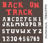 doodle alphabet fun font | Shutterstock .eps vector #708625993