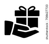 giving gift | Shutterstock .eps vector #708627733