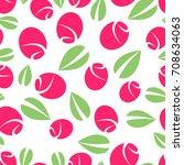 flower seamless pattern on... | Shutterstock .eps vector #708634063