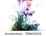 color ink painting  | Shutterstock . vector #708634543