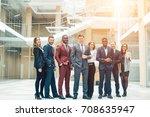 portrait of multi cultural... | Shutterstock . vector #708635947