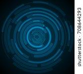 dark blue technology futuristic ... | Shutterstock .eps vector #708644293