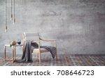 mock up poster with vintage... | Shutterstock . vector #708646723