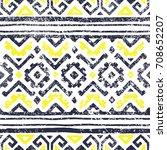 seamless geometric pattern.... | Shutterstock .eps vector #708652207