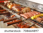 brazilian churrasco ... | Shutterstock . vector #708664897