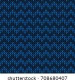 winter christmas x mas knit... | Shutterstock .eps vector #708680407