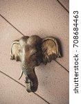 elephant head on wall...   Shutterstock . vector #708684463