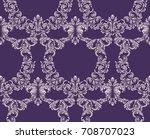 vintage classic pattern... | Shutterstock .eps vector #708707023