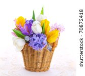 Bouquet Of Spring Flowers In...