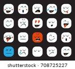 set of emoticons or emoji.... | Shutterstock . vector #708725227