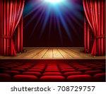 festival night show poster. a... | Shutterstock .eps vector #708729757