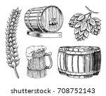wine or rum  beer classical... | Shutterstock .eps vector #708752143