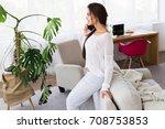 talking to best friend....   Shutterstock . vector #708753853