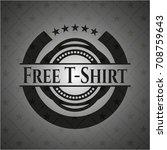 free t shirt black badge | Shutterstock .eps vector #708759643
