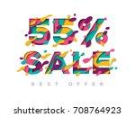 paper cut 55 percent off. 55 ...   Shutterstock .eps vector #708764923