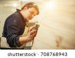 profession  carpentry  woodwork ...   Shutterstock . vector #708768943