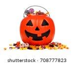 halloween jack o lantern candy...   Shutterstock . vector #708777823