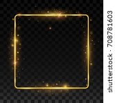gold shiny frame on a... | Shutterstock .eps vector #708781603
