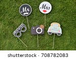 wedding setup | Shutterstock . vector #708782083