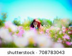 asian young woman feeling fresh ... | Shutterstock . vector #708783043