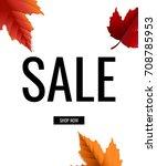 sale poster gradient mesh ... | Shutterstock .eps vector #708785953