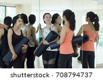 young woman in workout class | Shutterstock . vector #708794737