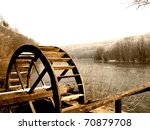 Wooden Wheel Of An Old...