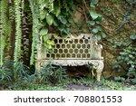 bench in the garden | Shutterstock . vector #708801553