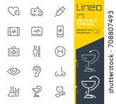 lineo editable stroke   medical ... | Shutterstock .eps vector #708807493
