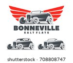 retro hot rod with stylized... | Shutterstock . vector #708808747