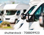 rv campers for sale in the rv... | Shutterstock . vector #708809923