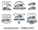 Set Of Hot Rod Logo  Emblems...