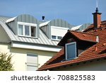 standing seam metal roof with... | Shutterstock . vector #708825583