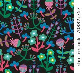 cute seamless floral pattern....   Shutterstock .eps vector #708825757