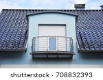 tiled roof with modern dormer... | Shutterstock . vector #708832393