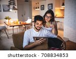photo of a young couple... | Shutterstock . vector #708834853