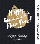 christmas greeting card cold...   Shutterstock . vector #708837877