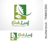 oak leaf logo template design... | Shutterstock .eps vector #708842383