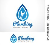 plumbing logo template design... | Shutterstock .eps vector #708842413