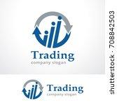trading logo template design... | Shutterstock .eps vector #708842503