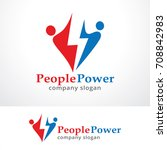 people power logo template... | Shutterstock .eps vector #708842983