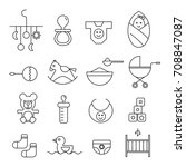 baby icons. | Shutterstock .eps vector #708847087