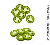 hamburger ingredient. sliced... | Shutterstock .eps vector #708859333