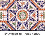 Detail of the traditional tiles ...