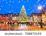 christmas tree and xmas market... | Shutterstock . vector #708873193