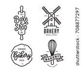 Bakery Emblems Set. Handmade...