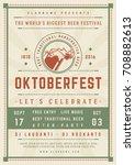 oktoberfest beer festival...   Shutterstock .eps vector #708882613