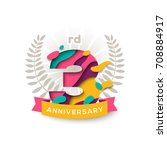 three years anniversary logo... | Shutterstock .eps vector #708884917