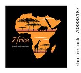africa  map  decorative symbol... | Shutterstock .eps vector #708888187