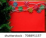 red christmas background | Shutterstock . vector #708891157